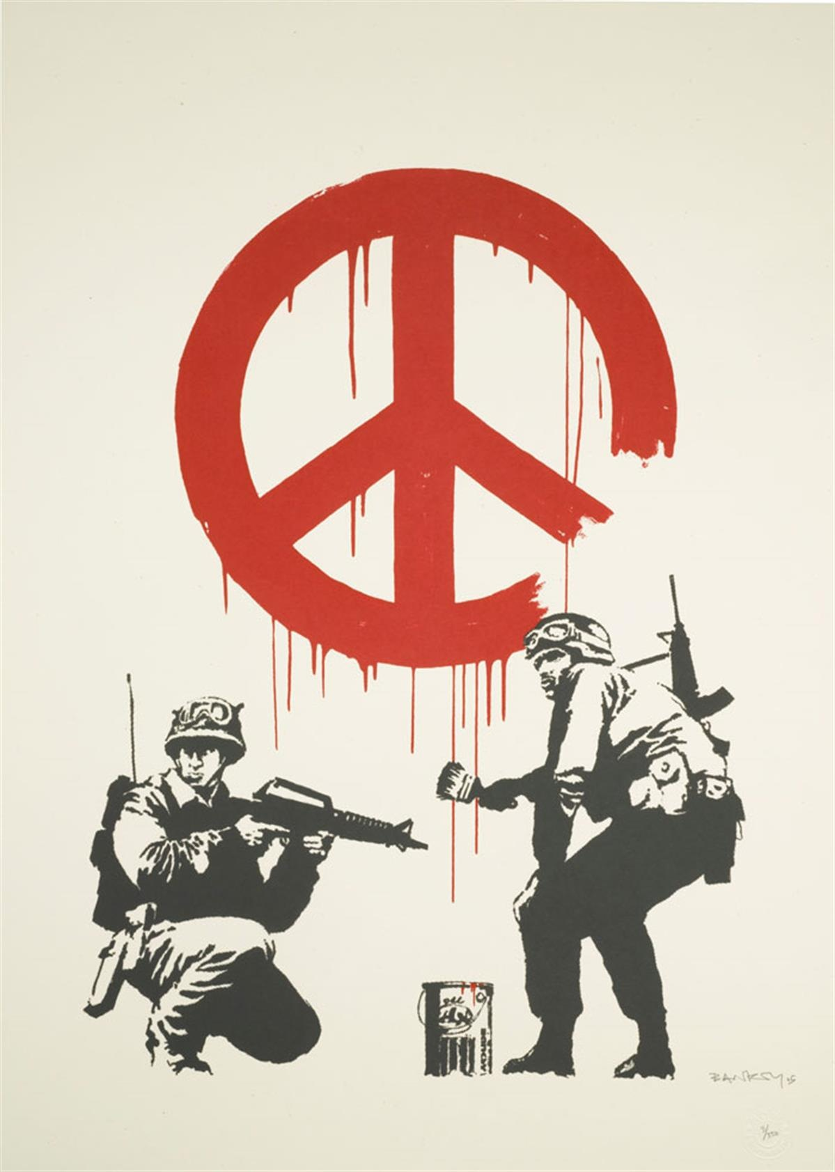 Banksy's 'CND Soldiers'